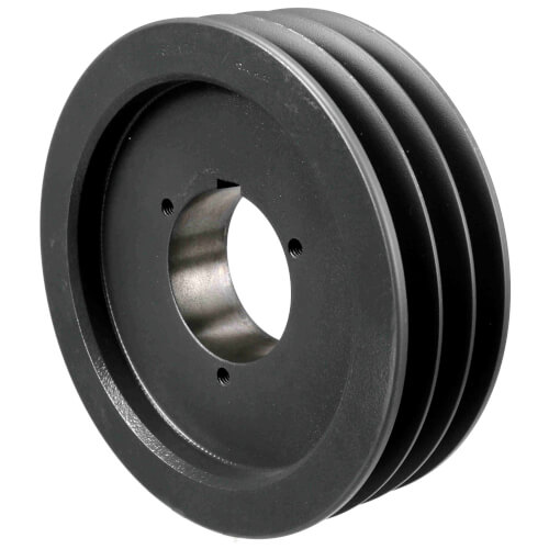 "3 Groove Cast Iron Split Taper Sheave, A, B or 5V Belt, 7.68"" OD Product Image"