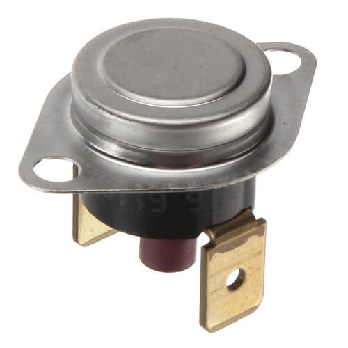 "1/2"" SPST Manual Reset Flame Rollout Switch, 1/4"" QC, 220°F Cut-Out Product Image"