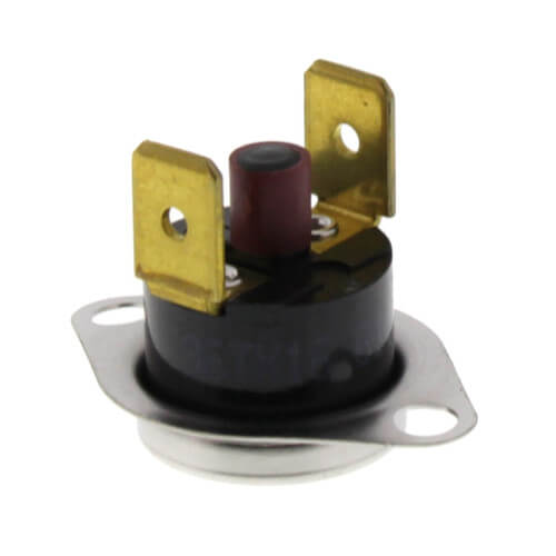 "1/2"" SPST Manual Reset Flame Rollout Switch, 1/4"" QC, 240°F Cut-Out Product Image"