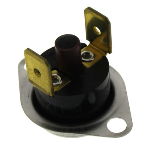 "1/2"" SPST Manual Reset Flame Rollout Switch, 1/4"" QC, 260°F Cut-Out Product Image"