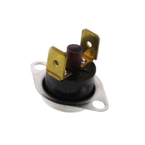 "1/2"" SPST Manual Reset Flame Rollout Switch, 1/4"" QC, 350°F Cut-Out Product Image"