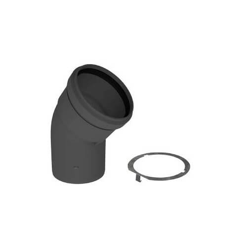 "3"" PolyPro 45° Black UV Resistant Elbow w/ LB2 Product Image"