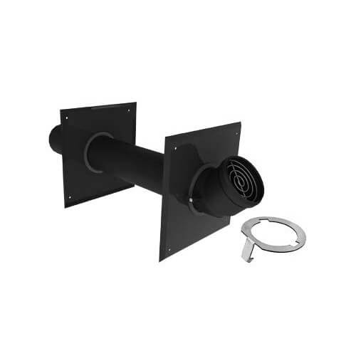 "3"" Single Horizontal Black Termination Metal w/ LB2 Product Image"