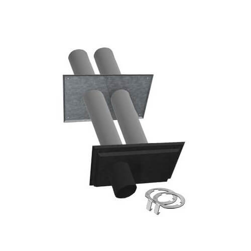 """3"""" Twin Pipe Zincalume with Black Nozzle Termination Kit w/ LB2 Product Image"""