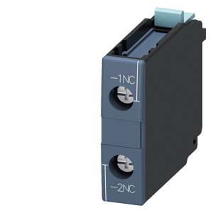 Auxiliary Switch Contact Block, 1NC, 1-Pole, for 3RT1 Contactors Product Image