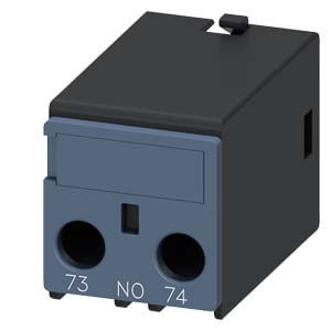 Auxiliary Switch Contact Block, 1NO, 1-Pole, for 3RH2 & 3RT2 Contactors Product Image