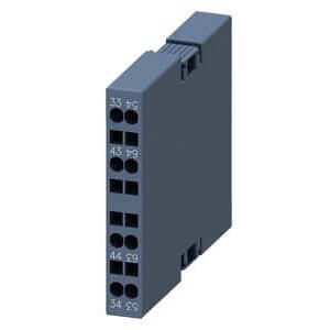 Solid-State-Compatible Auxiliary Contact Switch Block, 1NO/1NC, for 3RH & 3RT Contactors Product Image