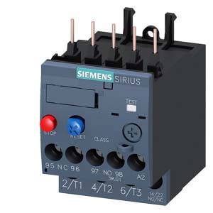 Overload Relay, Manual Auto Reset, Size S00, Class 10, 4.5-6.3 Amp Product Image