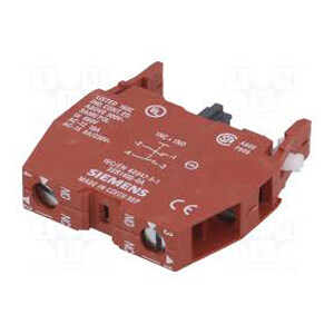 Auxiliary Contact Block, 1N/O 1N/C (Front Plate Mounting, 10A, 660V) Product Image