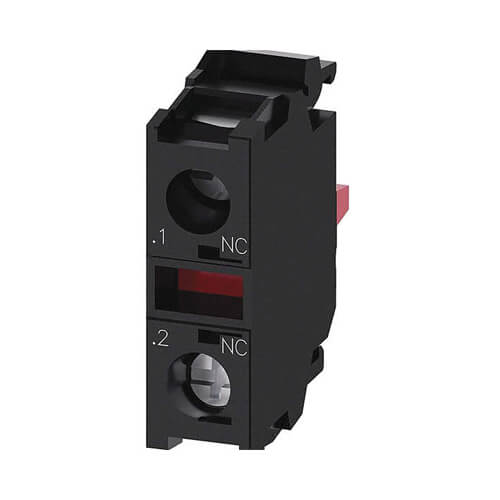 Contact Block, 1N/C (22 mm, Front Plate Mounting, 10A, 500V AC/DC) Product Image