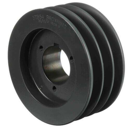 "3 Groove Gripbelt Split Taper Sheave, A, B Belt, 5.75"" OD Product Image"