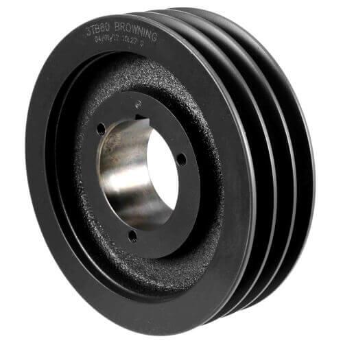 "3 Groove Gripbelt Split Taper Sheave, A, B Belt, 8.35"" OD Product Image"