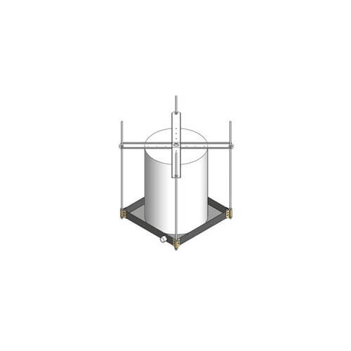 "Ceiling Mount Suspended Platform w/ Wall Mount & Drain Fittings  (21-1/4"" x 21-1/4) Product Image"