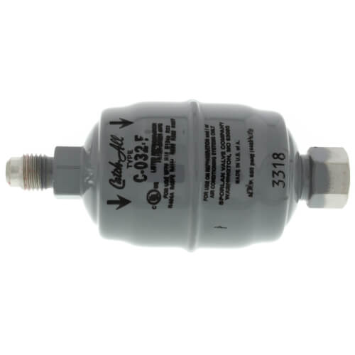 """C-032-F 1/4"""" SAE Male Flare x Female Flare Liquid Line Filter Drier 0 - 1/2 Ton (3 Cubic Inches) Product Image"""