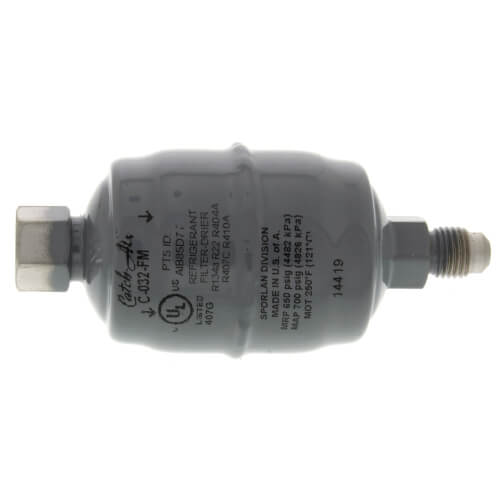 "C-032-FM 1/4"" SAE Female x Male Flare Liquid Line Filter Drier 0 - 1/2 Ton (3 Cubic Inches) Product Image"
