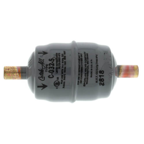 """C-032-S 1/4"""" ODF Solder Liquid Line Filter Drier 0 - 1/2 Ton (3 Cubic Inches) Product Image"""