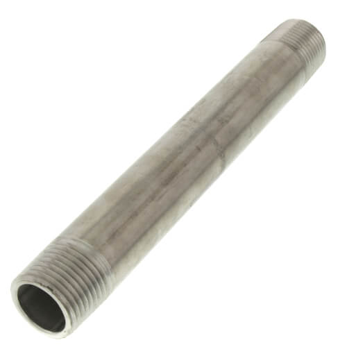 "1/2"" x 6"" Stainless Steel Nipple Product Image"