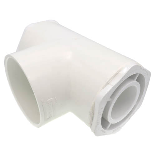 """2"""" x 2"""" x 4"""" PVC Sch. 40 Reducing Tee Product Image"""