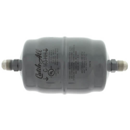 """C-163-HH 3/8"""" SAE Flare Liquid Line Filter Drier w/ Burnout Cleanup Core 3/4 to 5 Ton (16 Cubic Inches) Product Image"""