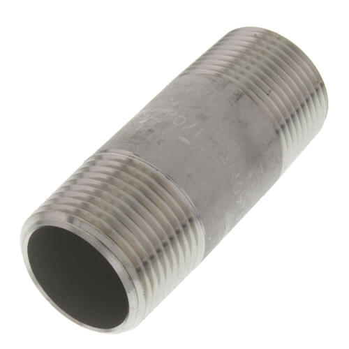 "3/4"" x 2-1/2"" Stainless Steel Nipple Product Image"