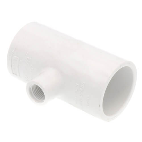 "3/4"" x 3/4"" x 1/8"" PVC Sch. 40 Reducing Tee (Socket x Socket x FPT) Product Image"