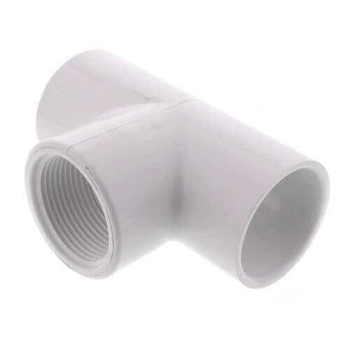 "1-1/4"" x 1"" x 1/2"" PVC Sch. 40 Threaded Tee (Socket x FIPT) Product Image"