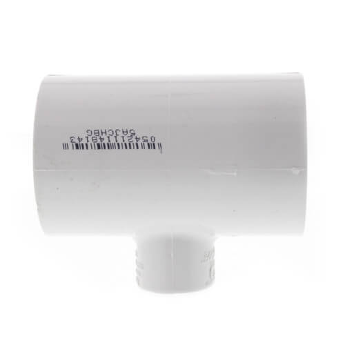 "1-1/2"" x 1-1/2"" x 1/2"" PVC Sch. 40 Threaded Tee (Socket x FIPT) Product Image"