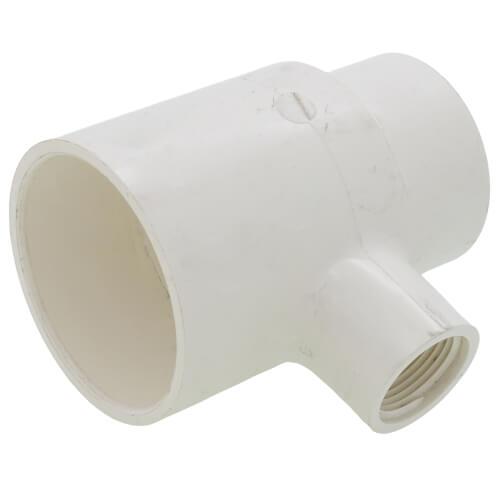"2"" x 1-1/2"" x 3/4"" PVC Sch. 40 Threaded Tee (Socket x FIPT) Product Image"
