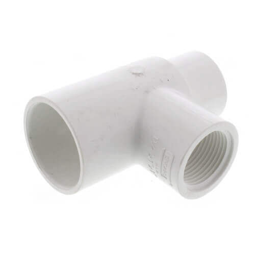 "2"" x 1-1/2"" x 1"" PVC Sch. 40 Threaded Tee (Socket x FIPT) Product Image"