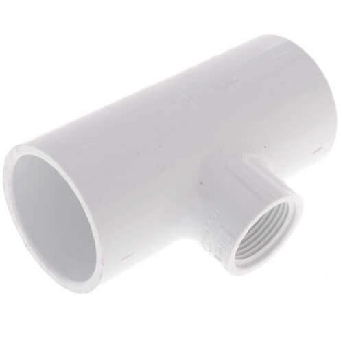 "2"" x 2"" x 1-1/4"" PVC Sch. 40 Threaded Tee (Socket x FIPT) Product Image"