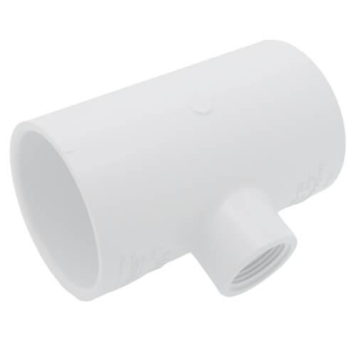 "2-1/2"" x 2-1/2"" x 1"" PVC Sch. 40 Threaded Tee (Socket x FIPT) Product Image"