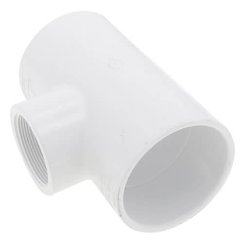 "3"" x 3"" x 2"" PVC Sch. 40 Threaded Tee (Socket x FIPT) Product Image"