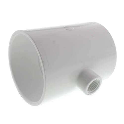 "6"" x 6"" x 2"" PVC Sch. 40 Threaded Tee (Socket x FIPT) Product Image"