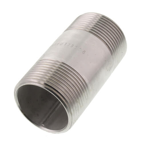 """1-1/4"""" x 3"""" Stainless Steel Nipple Product Image"""