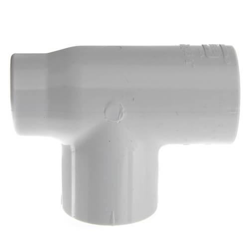 "3/4"" x 1/2"" x 3/4"" PVC Sch. 40 Threaded Tee (Socket x FIPT x Socket) Product Image"