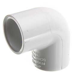 "3/8"" x 1/2"" PVC Sch. 40 90° Elbow Product Image"