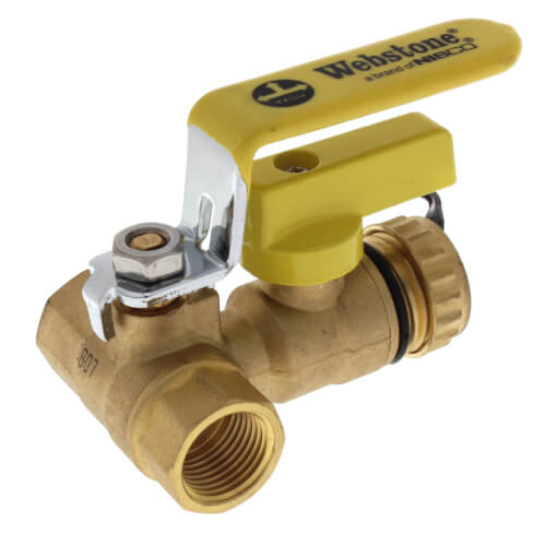"1/2"" Threaded Pro-Pal Ball Valve w/ Hose Drain Product Image"