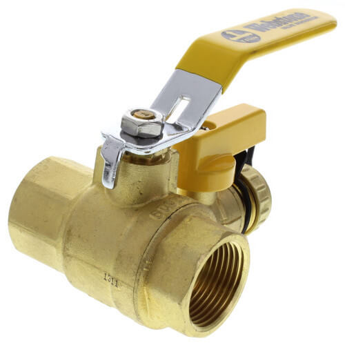 """1"""" Pro-Pal Full Port Forged Brass Ball Valve w/ Hi-Flow Hose Drain & Reversible Handle (Lead Free) Product Image"""