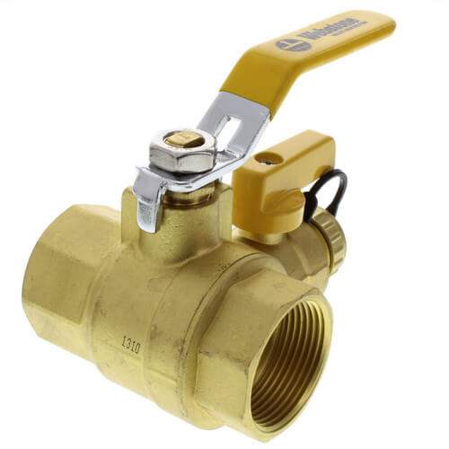 "1-1/4"" Pro-Pal Full Port Forged Brass Ball Valve w/ Hi-Flow Hose Drain & Reversible Handle Product Image"