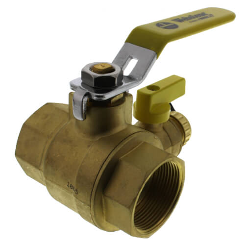 "1-1/2"" Threaded Pro-Pal Ball Valve w/ Hose Drain Product Image"