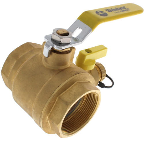 "2"" Threaded Pro-Pal Ball Valve w/ Hose Drain Product Image"