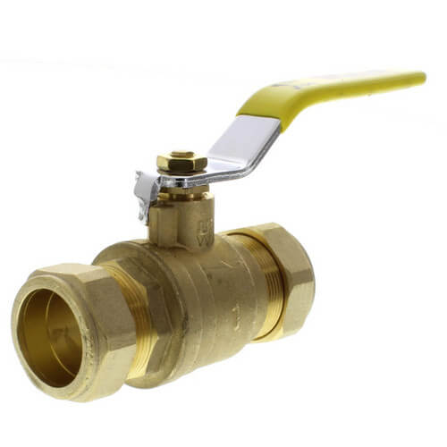 "1"" Compression Full Port Brass Ball Valve (Lead Free) Product Image"