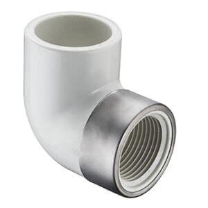 "1"" PVC Sch. 40 Spec. Reinforced 90° Elbow (Socket x FIPT) Product Image"