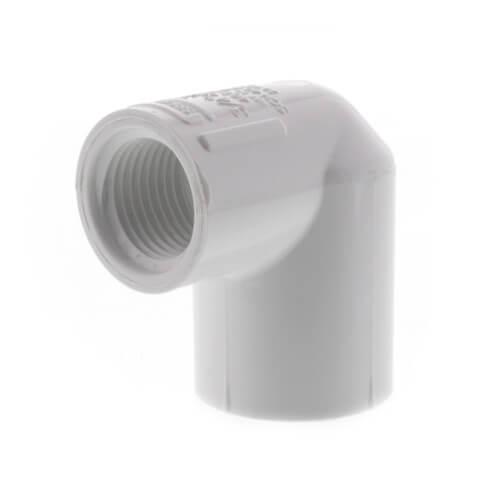 "3/4"" x 1/2"" PVC Sch. 40 90° Elbow (Socket x FIPT) Product Image"
