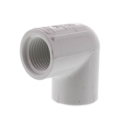 "1/2"" PVC Sch. 40 90° Threaded Elbow (FIPT) Product Image"