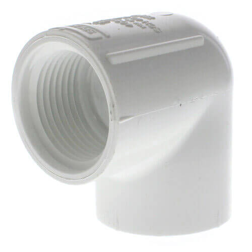 """1"""" PVC Sch. 40 90° Threaded Elbow (FIPT) Product Image"""