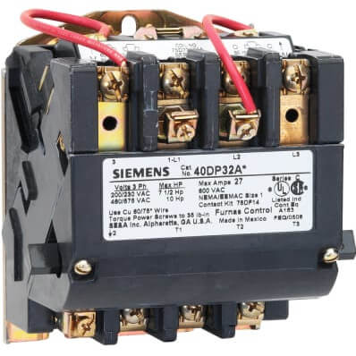 3 Pole, 110–120/220–240V, 3 Phase Non-Reversing Contactor (18A) Product Image