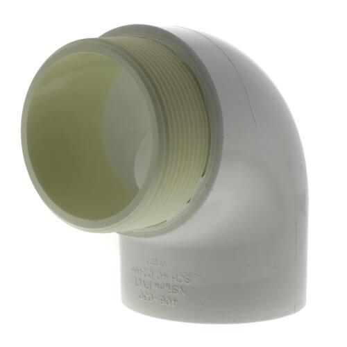 "3"" PVC Sch. 40 90° Street Elbow (MIPTxSOC) Product Image"