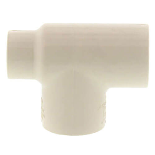 """1-1/2"""" x 1/2"""" x 1-1/2"""" CPVC CTS Reducing Tee (Socket) Product Image"""