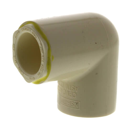 """1"""" x 3/4"""" CPVC CTS 90° Reducing Elbow (Socket) Product Image"""